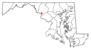 Adamstown, Maryland - Image: MD Map doton Adamstown