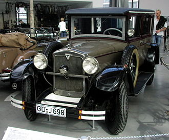 Adler (cars and motorcycle) - Adler Standard 6, the model Clärenore Stinnes drove on her journey around the world