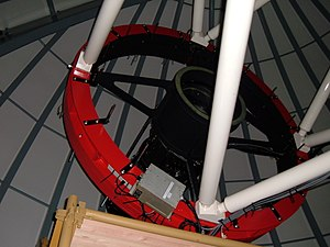 Microlensing Observations in Astrophysics - Image: MOA telescope secondary