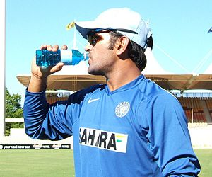 Mahendra Singh Dhoni at Adelaide Oval