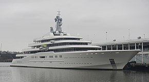 MY Eclipse Currently The Worlds Second Longest Luxury Yacht Sitting At A Pier In Manhattan 2013