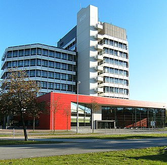 University of Bremen - The MZH building at the center of the campus.