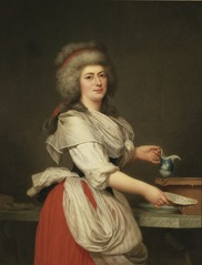 Madame A. Aughié, Friend of Queen Marie Antoinette, as a Dairymaid in the Royal Dairy at Trianon