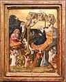 Maestro di gheldria o utrecht, sacra famiglia nella stalla con angeli, 1400 ca.JPG