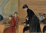 Tanár az osztályával (Magnus Enskell, 1899)