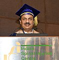 Mahesh Sharma addressing at the 1st Convocation of the Institute of Rehabilitation Sciences of Indian Spinal Injuries Centre, Vasant Kunj, in New Delhi.JPG