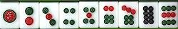 Juego Mahjong, fichas de Discos