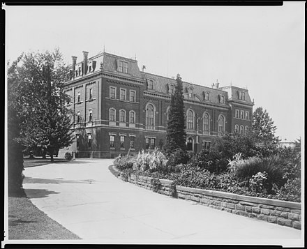 The first Department of Agriculture Building on the National Mall around 1895