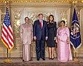 Maithripala Sirisena, Donald Trump, Melania Trump, Jayanthi Sirisena.jpg