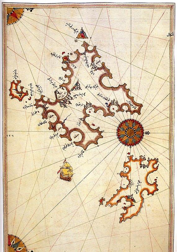 Majorca and Minorca by Piri Reis