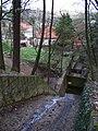Malá Chuchle, potok a lázně, shora.jpg