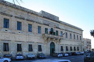Marc'Antonio Zondadari - Image: Malta Valletta Triq San Bastjan Auberge de Baviere 02 ies