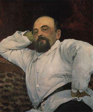Savva Mamontov - Savva Mamontov. Portrait by Ilya Repin (1880)