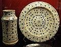 Manises, piatto e albarello con lustro metallico, 11440-30 e 1430-70 ca..JPG