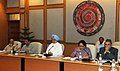 Manmohan Singh chairing the meeting of the National Board for Wildlife, in New Delhi. The Minister of State (Independent Charge) for Environment and Forests, Smt. Jayanthi Natarajan and the President of ICCR (1).jpg