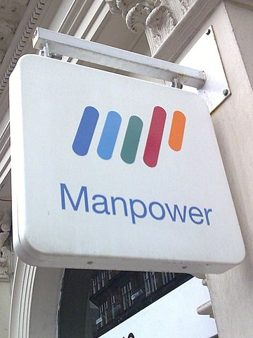 Manpower logo By Steven (talk).Ohmygoditssteve at en.wikipedia [GFDL (https://www.gnu.org/copyleft/fdl.html), CC-BY-SA-3.0 (https://creativecommons.org/licenses/by-sa/3.0/) or Public domain], from Wikimedia Commons