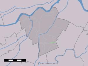 Geer, South Holland - Image: Map NL Zederik Geer