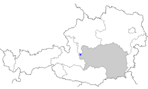 Ramsau am Dachstein - Image: Map at ramsau am dachstein