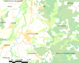 Mapa obce Puy-Guillaume