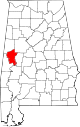 Map of Alabama highlighting Greene County.svg