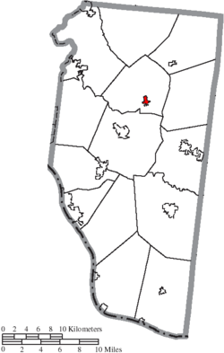 Location of Owensville in Clermont County