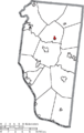 Map of Clermont County Ohio Highlighting Owensville Village.png