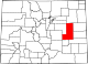 Map of Colorado highlighting Lincoln County.svg