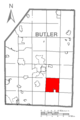 Map of Jefferson Township, Butler County, Pennsylvania Highlighted.png
