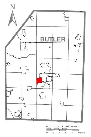 Meridian, Pennsylvania - Image: Map of Meridian, Butler County, Pennsylvania Highlighted