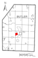 Map of Meridian, Butler County, Pennsylvania Highlighted.png