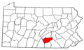Map of Pennsylvania highlighting Cumberland County.png