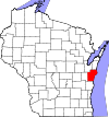State map highlighting Manitowoc County