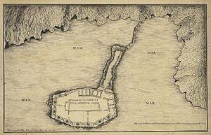Fort of São João Baptista (Berlengas) - 19th century plan of the Forte of the Berlengas