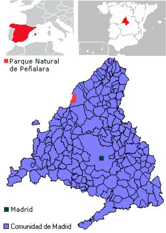 Peñalara Natural Park - Map of Peñalara Natural Park.