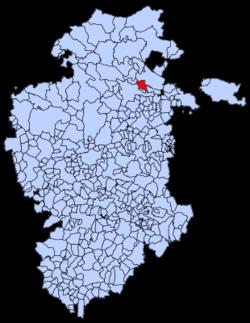 Municipa loko de Frías en Burgosa provinco
