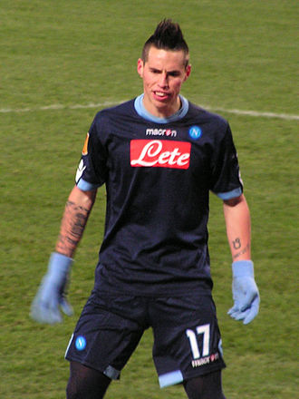 Marek Hamšík - Hamšík playing in the Europa League against Utrecht in 2010