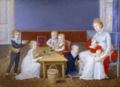 Maria Theresa of Naples with her children, miniature - Hofburg.png