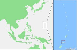 Lagekarte von Rota (Nörliche Marianen)