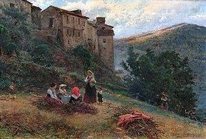Mariano Barbasán - Image: Mariano Barbasán Paisagem e Camponesas de Antícoli, 1903