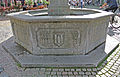 """Marienbrunnen (Waldkirch) - Inschrift """"Anno 1953"""".JPG"""