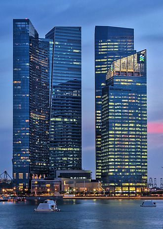 Standard Chartered - Standard Chartered corporate office in Marina Bay Financial Centre, Singapore.