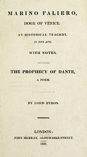 <i>Marino Faliero, Doge of Venice</i> play written by Lord Byron