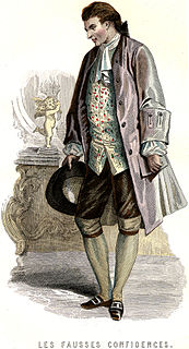 <i>Les Fausses Confidences</i> 1738 play written by Pierre de Marivaux
