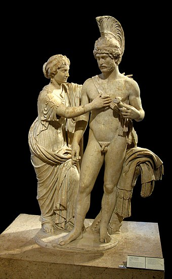 Venus and Mars sculpture group reworked to portray an Imperial couple (created 120-140 AD, reworked 170-175) Mars Venus Louvre Ma1009.jpg