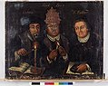 Martin Luther, John Calvin and the Pope Leo X - Allegory of True Faith DIG-3784.jpg