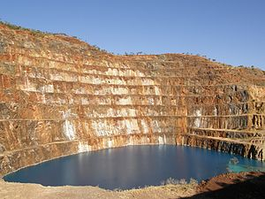 Mary Kathleen, Queensland - The abandoned open pit of Mary Kathleen mine, 2009