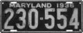 Maryland license plate, 1936.png
