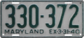 Maryland license plate, 1939–1940.png