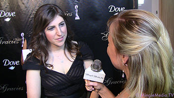 Actress Mayim Bialik at the 36th Annual Gracie...
