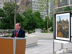 Richard M. Daley - Chicago Mayor Richard M. Daley at the opening of the 2005 Revealing Chicago Exhibition in the Boeing Gallery and Chase Promenade in Millennium Park.